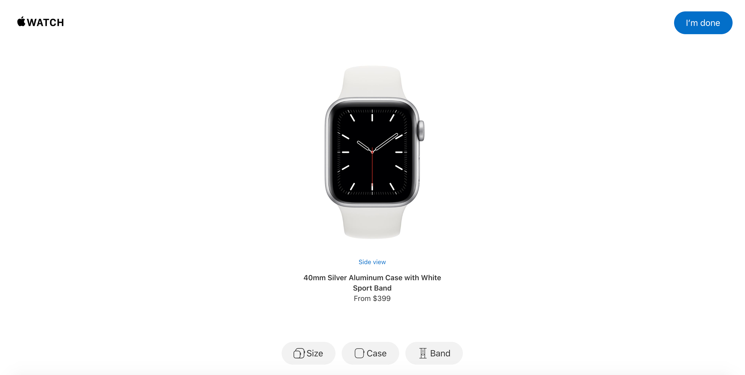 Apple Watch Studio Opening Screen